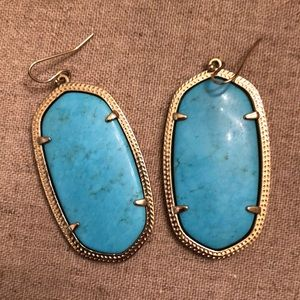 Turquoise Kendra Scott Danielle Statement Earrings